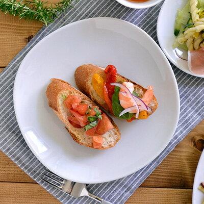 白い食器 和食器 和角シリーズ 中皿(白) 19.5cm