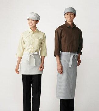 【シャツ】【サンペックスイスト 男女兼用ショップシャツ-SS〜4L ET5732】 カフェ、レストラン、洋菓子店