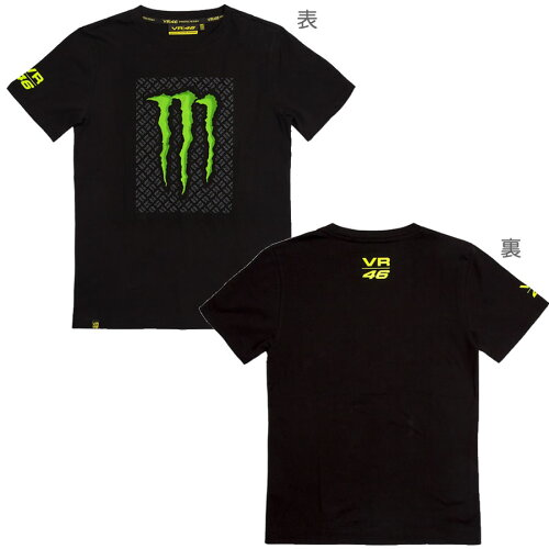 VR46 バレンティーノ・ロッシ MONSTER Tシャツ(モンスター Tシャツ) ...