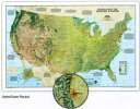 アメリカの地形ってこうなっていたんだ!地勢のウーォールマップ【アメリカ合衆国地勢図 United States Physical Wall Map】