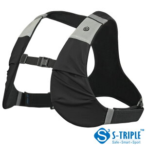 【S-TRIPLE】LED機能搭載スポーツベストX-VESTLiteユニセックス用3サイズから選択