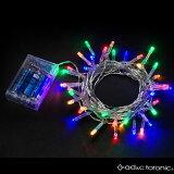 【あす楽対応】室内用 LED イルミネーション ライト 5m 40球 ストレートタイプ 電池式 『AD&C TORONIC』 カラー:ミックス 「ASH-TR40L」消費税込 送料無料!