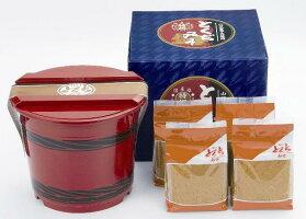 山口とくぢ味噌■特撰麦つぶみそ朱樽箱入り3kg(750g×4)【徳地味噌】