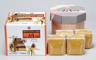 山口とくぢ味噌■麦つぶみそ樽箱入り4kg【徳地味噌】