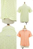 ラウラフェリーチェのカジュアルシャツ半袖カジュアルシャツワイドカラードット柄ストレッチ綿100%画像
