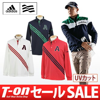 Adidas / 阿迪達斯高爾夫 / polo 衫長袖襯衫馬球 t 恤 UV 乾燥 3 線設計 /adidas 阿迪達斯高爾夫高爾夫高爾夫潔具的感