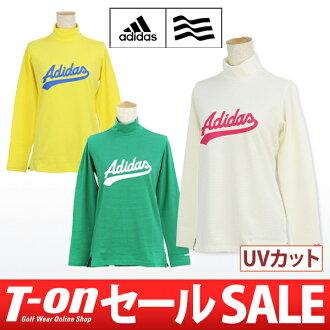 Adidas / 阿迪達斯高爾夫和削減的高領襯衫長袖 UV 伸展邊界模式休閒風格徽標列印 /adidas 高爾夫阿迪達斯高爾夫高爾夫潔具