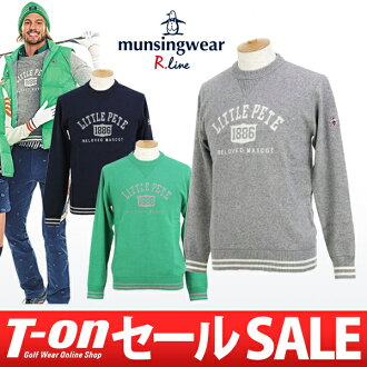 Munsingwear / Munsingwear R 線 / 頸部毛衣羊毛線衣混合涼廊警衛彩色線預科生口味 Munsingwear R.line Munsingwear R 線高爾夫了
