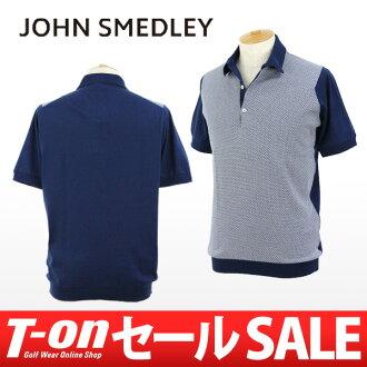 約翰 · 史沫特萊 / 史沫特萊日本 AE / polo 衫短袖 polo 衫細棉 100%英國皇家針織的馬球襯衫格子圖案提花標準適合約翰史沫特萊史沫特萊哥爾夫球