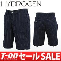 ハイドロゲン日本正規品のパンツショートパンツハーフパンツストライプ柄コットン100%5ポケット画像