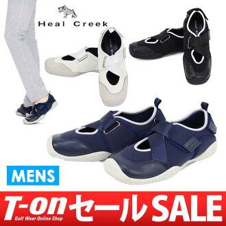 沒有鞋跟水道/鞋跟水道/高爾夫球鞋釘鞋的高爾夫球鞋運動鞋涼鞋設計柔軟的履kigokochi Heal Creek鞋跟水道