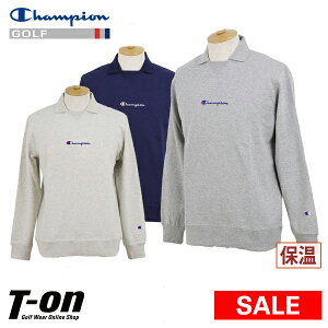 【30%OFF SALE】チャンピオン チャンピオン ゴルフ Champion 日本正規品 メンズ ポロシャツ 長袖ポロシャツ ガゼットポロシャツ 保温 ロングスリーブシャツ ロゴ刺繍   ゴルフウェア