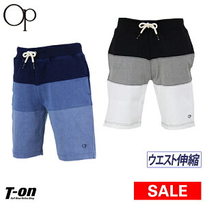 【30%OFF SALE】オーシャンパシフィック Ocean Pacific OP 日本正規品 メンズ パンツ ショートパンツ 3段切替ショーツ ストレッチ ウエスト伸縮  2019 春夏 新作 ゴルフウェア
