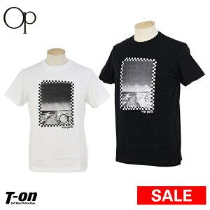 【30%OFF SALE】オーシャンパシフィック Ocean Pacific OP 日本正規品 メンズ Tシャツ 半袖 クルーネック コットン100% ビーチモチーフプリント  2019 春夏 新作 ゴルフウェア