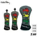 キース・ヘリング Keith Haring 日本正規品 メンズ レディース ヘッドカバー ドライバー用 フェアウェイウッド用 ユーティリティ用 キースへリングカラフルアート刺繍 2021 春夏 新作 ゴルフ・・・