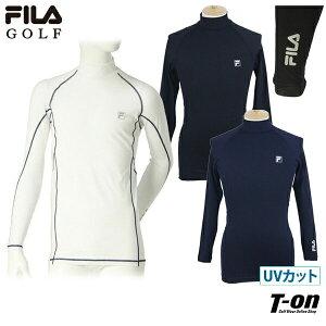 フィラ フィラゴルフ FILA GOLF メンズ ハイネックシャツ 長袖 インナーシャツ コンプレッションシャツ UVカット 吸汗速乾 ストレッチ ロゴプリント 2021 春夏 新作 ゴルフウェア