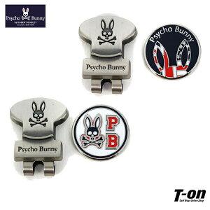 サイコバニー Psycho Bunny 日本正規品 メンズ レディース マーカー ボールマーカー クリップマーカー ロゴ柄 ウサギの耳柄 メタル調 2021 秋冬 新作 ゴルフ