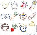 送料無料 オリムパス製絲 フランス刺繍キット 基本縫 ししゅうステップ 2