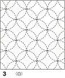 ●メール便● 刺し子 花ふきん布パック 白 七宝(しっぽう)つなぎ 伝統柄 オリムパス製絲 3