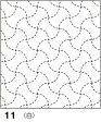 ●メール便● 刺し子 花ふきん布パック 白 分銅(ぶんどう)つなぎ 伝統柄 オリムパス製絲 11