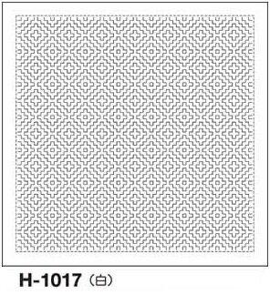 .オリムパス 刺し子 花ふきん 布パック 柿の花 一目刺し 白 伝統柄 H-1017 刺しゅう 伝統的 刺繍 技法