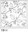 ●メール便● 刺し子 花ふきん布パック 白 木の実(きのみ) 和柄 オリムパス製絲 13