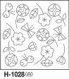 ●メール便● 刺し子 花ふきん布パック 白 北欧モチーフ フラワー オリジナル柄 オリムパス製絲 H-1028
