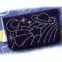 【クーポンで39円OFF】.送料無料 オリムパス 篠原ともえDESIGN 宇宙☆刺し子 キット ポーチ<白> SK-348 刺しゅう 伝統的 刺繍 技法