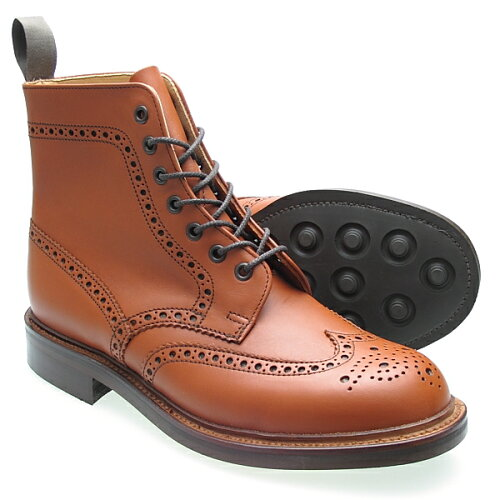 Alfred Sargent アルフレッドサージェント TAN BROGUE DERBY BOOT カントリーブーツ≪MADE IN ENGL...