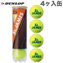 [新パッケージ]ダンロップ セントジェームス(St.JAMES)4個入り(ボール プレッシャー DUNLOP ダンロップ 小物 プレッシャーライズド テニス小物 テニス用品 プレゼント テニサポ グッズ) 05P03Dec16