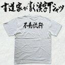 【不易流行(横書)】書道家が書く漢字Tシャツ おもしろTシャツ 本物の...