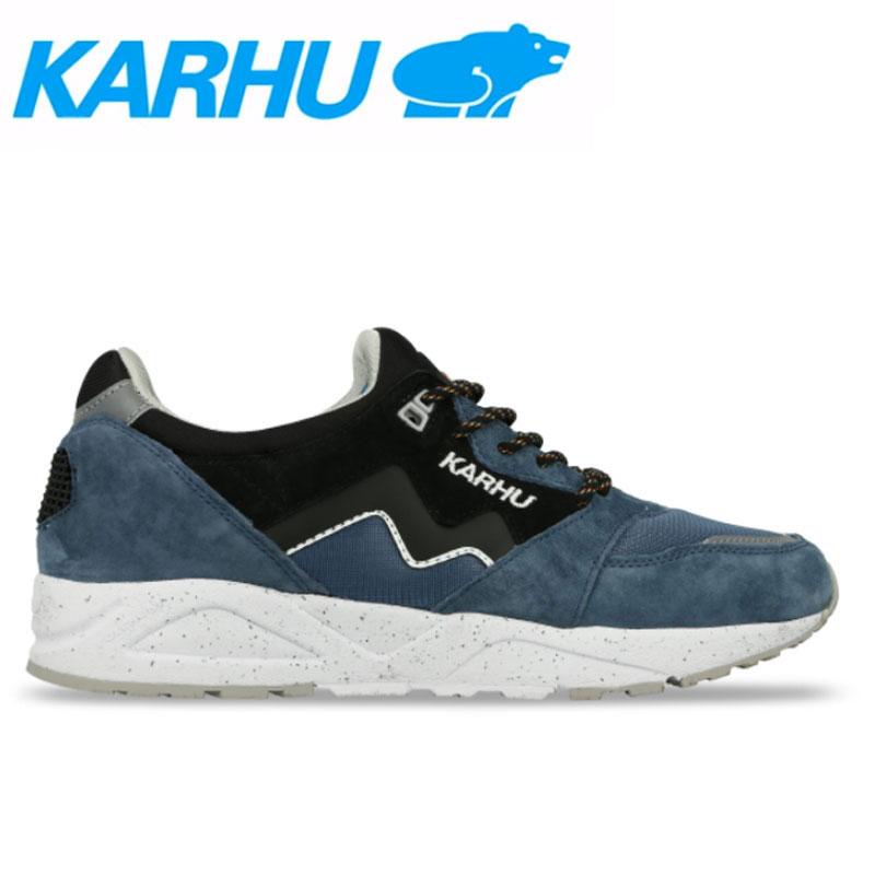 KARHU(カルフ)スニーカー レディース メンズ アリア シューズ 靴 ユニセックス 男女兼用 スウェード/メッシュリアルティール/ブラック kh803028画像