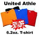 カラーが豊富な高品質無地Tシャツ【30%OFF】UnitedAthle(ユナイテッドアスレ) 無地 6.2oz 型く...