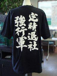 """オリジナルTシャツ2枚以上買うと送料無料!!筆文字が映える、かっこいい和柄プリントTシャツ""""定..."""