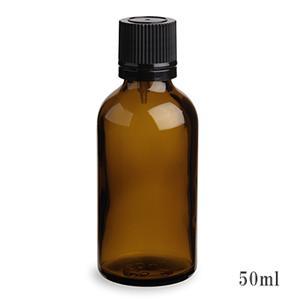 スタンダードタイプ遮光瓶(茶色)黒キャップ50ml (アルコール、エタノール対応)99本セット 50%割引バルク販売(ドロッパー付きセイフティーキャップ)
