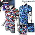 マンシングウェア(Munsingwear)Coolistラベルモチーフプリントポロ