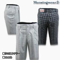 マンシングウェア(Munsingwear)ウエストフリーバーズアイチェックstretchパンツ