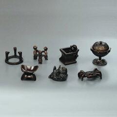 【茶器/茶道具・ 蓋置】唐銅 七種蓋置【送料無料】【代引手数料無料】