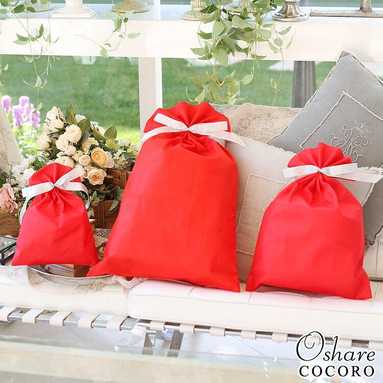 ギフト ラッピング 袋 ラッピングバッグ ギフト用袋 S M L レッド 赤 プレゼント プレゼント用包装 包装袋 不織布 小さい 大きい プチプラ
