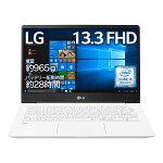 LGノートパソコンgram965g/バッテリー28時間/Corei5/13.3インチ/Windows10/メモリ8GB/SSD256GB/ホワイト/13Z990-GA54J
