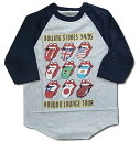 【ロックTシャツ バンドTシャツ】【Rolling Stones ローリング・ストーンズ】 VOO DOO LOUNGE TOUR ラグランベースボールTシャツ