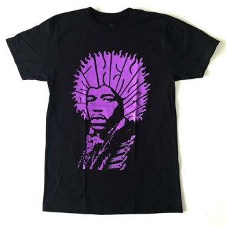 鎖頭T恤帶T恤Jimi Hendrix紫產生幻覺的文字吉米·亨德裏克斯印刷T恤限定T恤短袖T恤圓領T恤ROCK人T恤T恤