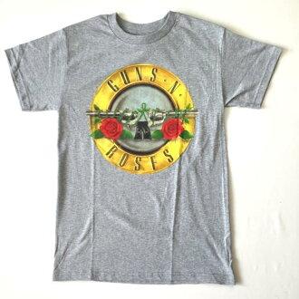 鎖頭T恤帶T恤GUNS N ROSES更斯·和·玫瑰標記灰色T恤限定T恤短袖T恤圓領T恤ROCK人T恤T恤