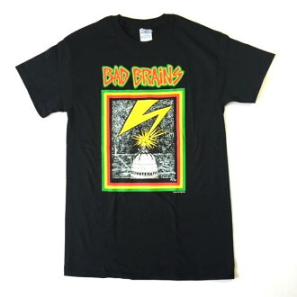 鎖頭T恤帶T恤Bad Brians壞智囊Logo黑色印刷T恤限定T恤短袖T恤圓領T恤ROCK人T恤T恤