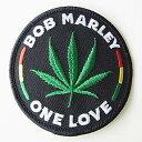 ワッペン パッチ BOB MARLEY ONE LOVE レゲエ ワッペン