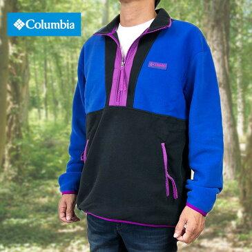 Columbia コロンビア フリース プルオーバー フリースジャケット COLUMBIA 限定モデル CSCオリジナルズ プリンテッドフリース メンズ おすすめ パープル 90年代 復刻モデル