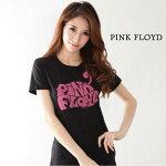 【ロックTシャツ★バンドTシャツ】【PINKFLOYD】ロゴレディースTシャツ