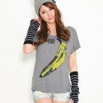 """【ロックTシャツバンドTシャツ】【VelvetUnderground&Nico/バナナTシャツ】""""グレー""""rockレディースTシャツ"""
