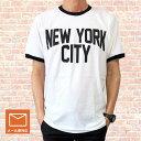 ロックTシャツ バンドTシャツ John Lennon ジョン・レノン NEW YORK CITY ロゴT プリントTシャツ トリムTシャツ リンガーTシャツ メンズ レディース Tシャツ バンドT 復刻版 送料無料