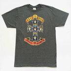 """ロックTシャツ バンドTシャツ GUNS N ROSES ガンズアンドローゼス """"APPETITE FOR DESTRUCTION"""" Tシャツ グレー バンT バンドT 正規品 送料無料 メール便"""